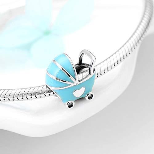 LIDAYE 925 Sterling Silber Schöne Kinderwagen DIY für Mode Perlen Fit Original Charms Armband Schmuckherstellung