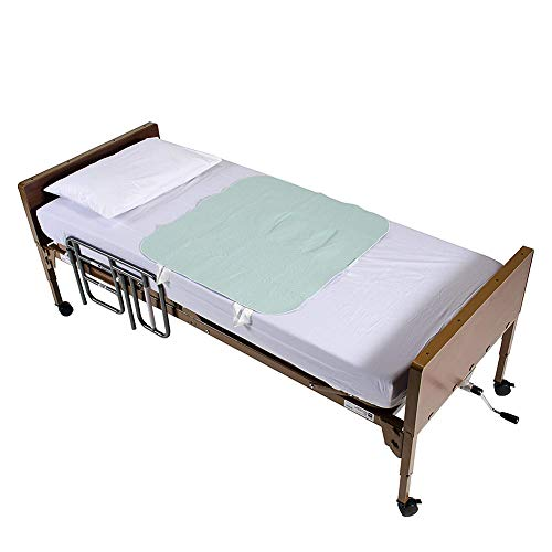 Positioning Bed Pad Patient Repositioning Mattress Draw Underpad Sheet Straps Handles Disability Aids for Hospital Bedridden Lift Moving Patient Elderly Seniors Turner Transfer Sling Home 34' x 52'