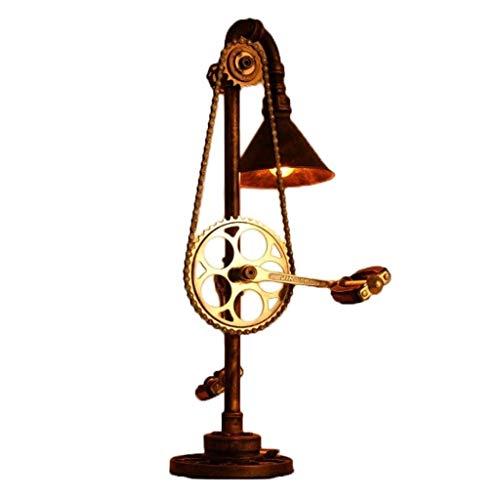 Lámpara de Escritorio Retro nórdico Lámpara de lámpara de Mesa Lámpara de Mesa Loft Equipo Industrial Pipeline Cafeacute; -Bar Iluminación Lámpara de Mesa de Metal Lámparas de Noche WKY