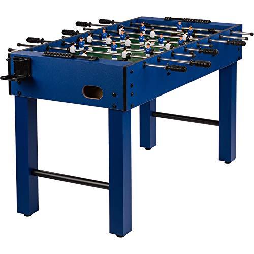 """Maxstore Tischfussball """"Glasgow"""", 5 Dekore: Holz/Schwarz/Blau/Soccer/Weiß, inkl. 2 Bälle, 2 Getränkehalter, höhenverstellbare Füße, hochgezogene Spielfeldecken, Tischkicker, Kicker, Kickertisch"""