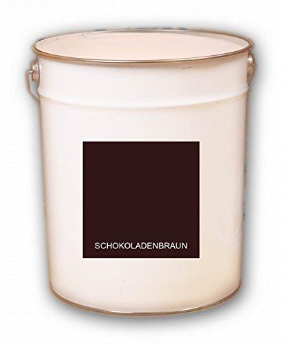 50 Liter braun Schokoladenbraun Acryl Dachfarbe Dachanstrich Ziegelfarbe Dachbeschichtung Metalldach Blechdach Acrylat Basis