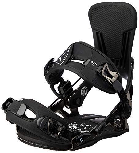 SP United Unisex– Erwachsene Slab Snowboardbindung, Black, L