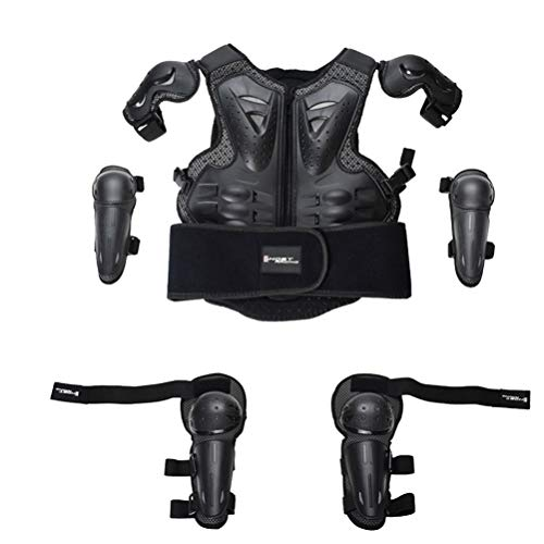 BESPORTBLE 1 Set Kids Protective Armor Riding Vest Elbow Knee Protection Guards Motorcycle Riding Vest Gear Suits for Children