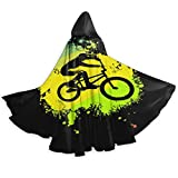 Eternal classic BMX Bike Adult Cloak Halloween Hooded Cloak Cosplay Robe Witch Party Hooded Cloak-OneSize-