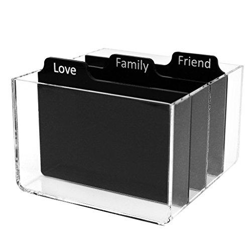 Polaroid Caja de Almacenamiento de Fotos acrílica Transparente con divisores para Papel...