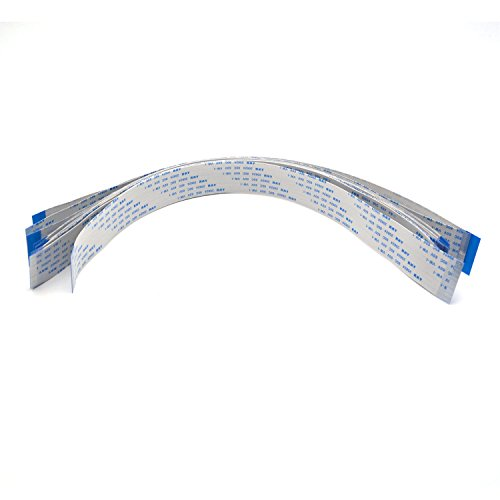 Antrader 40pin FFC Flexible Flat Cables 0.5 mm Pitch 30cm Long Same Sides Contact AWM 20624 80C 60V VW-1 Pack of 12pcs