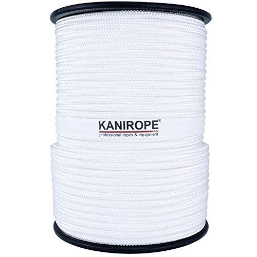 Kanirope® Polyesterseil Seil Polyester POLYBRAID 10mm 100m Weiß 16-fach geflochten