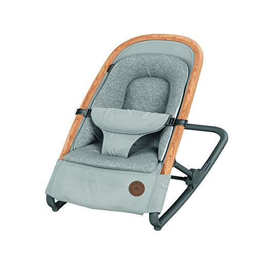 Bébé Confort Kori Ergonomische Babywippe aus Stoff, mit natürlicher Bewegung, ohne Elektrizität, zusammenklappbar, Farbe Essential Grey