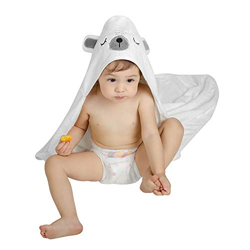 Babybadetuch Zwini Babyhandtuch mit Kapuze Kinderhandtuch aus 100{e58766a2514b842ad11f5a2e1b225d9b5f87a01fd0080d1be5d47c5f6c940af6} Bio Bambus Handtücher Bär Perfektes Babyparty Geschenk für Babys, Kleinkinder 0-5 Jahre alt, 35,7 x 35,7 Zoll