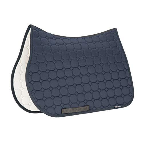 Equiline Schabracke Octagon, Baumwollschabracke Form Dressur, Farbe Blue