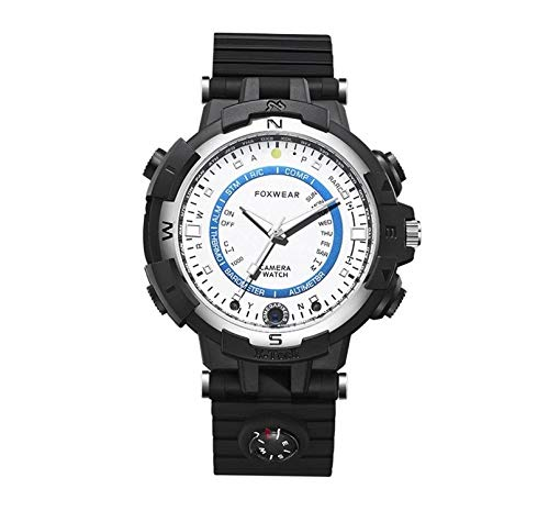 Zhicaikeji Reloj Inteligente para Hombres Reloj Remoto WiFi Inteligente La cámara HD Puede Tomar un Reloj con cámara fotográfica