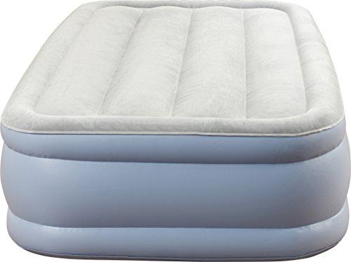 Beautyrest Hi-Loft Inflatable Mattress: Raised-Profile Air Bed with External Pump, Twin