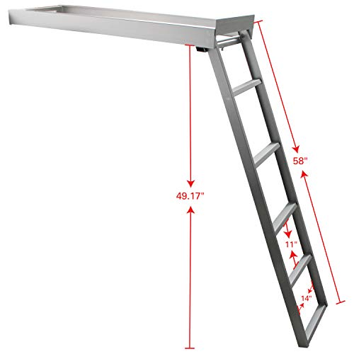 Extreme Max 3005.3430 Undermount Pontoon Ladder - 5-Step