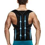 Back Brace Posture Corrector for Men and Women - Back Support Belt Shoulder Posture Support,Adjustable Posture Back Brace for Upper and Lower back - Pain Relief from Back,Neck,Shoulder L(34''-38'')