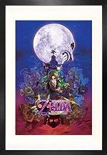 1art1 The Legend of Zelda Majora'S Mask Póster (91 x 61cm) con Marco MDF (120 x 80cm)