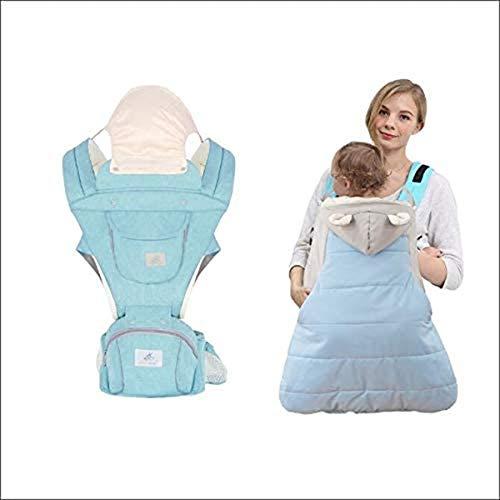 ZYCH Cadera Porta Bebé Baby Carrier Impermeable Bandoleras Portabebé Extraíble + Funda para Mochila Portabebé Prueba Viento Encapuchado Invierno Cubierta Transportador