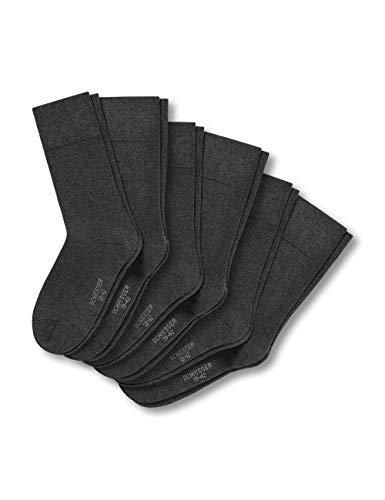 Schiesser Herren Multipack Herrensocken (6Pack) Socken, Grau (Anthrazit-Mel. 208), 43/46 (6er Pack)