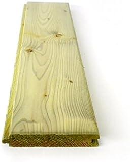 Listón de madera de pino impregnado en autoclave de doble uso, 20 x 120 x