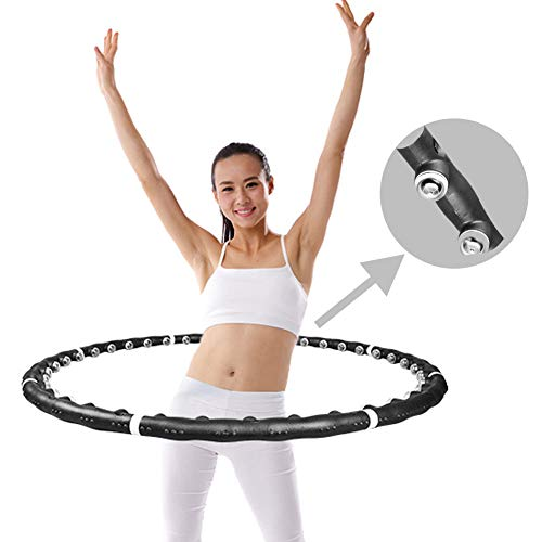 Best Deals! Hoola Hoop for Adults, Sports Weighted Hula Hoop for Exercise Weight Loss Soft Fitness 2...