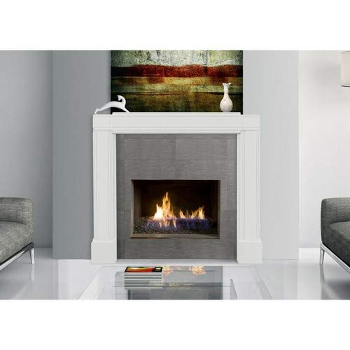Pearl Mantels 201 Emory Fully Adjustable Mantel Surround, White