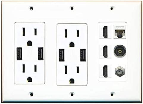 RiteAV 2 x Price reduction USB Charger Outlets Dual 15A 3.6A 125V Department store Charg with