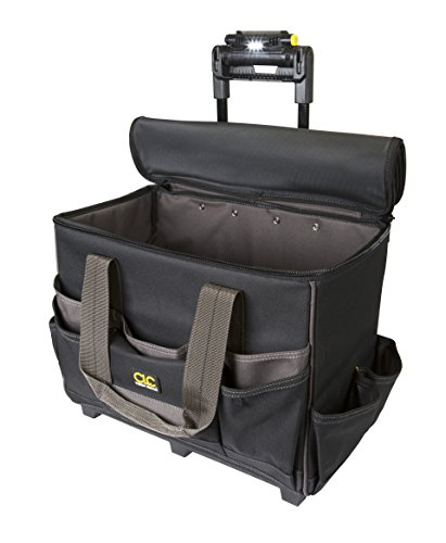 CLC Custom Leathercraft L258 TechGear Roller Tool Bag with Lighted
