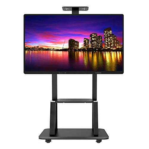 ERRU Tall Mobile TV Cart for Airport Business, 32/37/40/47/50/55/60/65/70/75 Inch Plasma Flat Panel Screens Floor Stand, Support 120kg