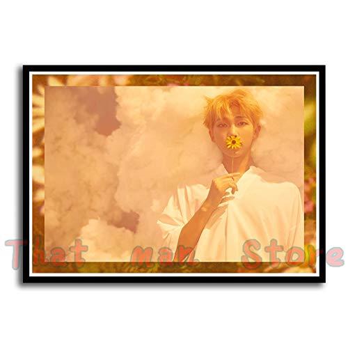 FHGFB BTS-Korea Boys Segeltuch drucken Bild-leinwand Kunstdruck Set-Leinwandbild, Bilder, Wand Bild, Wandbilder, Kunstdruck-(40X60cm Rahmenlos)