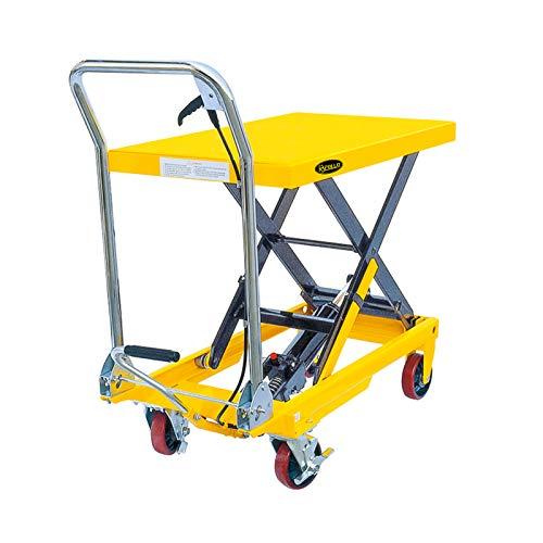 APOLLOLIFT Single Scissor Hydraulic Lift Table/Cart 1100lbs Capacity 35.4