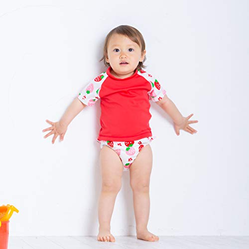 チャックル水遊び用おむつパンツBABYSWIMベビースイムフリル付イチゴ水遊び用パンツ100cm日本製
