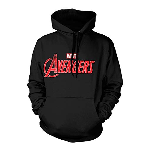 Unbekannt Officially Licensed The Avengers Distressed Logo Big & Tall Hoodie (Black) 4X-Large