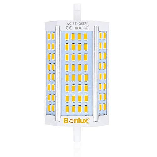 Bonlux Regulable R7S Base 30W 118mm Bombilla LED Doble extremos J118 LED Reflector blanco natural 4000k equivalente 300W R7S Bombilla halógena Luz del día