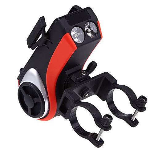 ZZKJTANGYMTT Audio Bluetooth, audiosysteem voor motorfiets, telefoonhouder voor fiets, bluetooth, fietsverlichting, fietsverlichting voor mountainbike, slijtvast Oranje