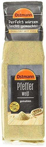 Ostmann Pfeffer weiß gemahlen, 3er Pack (3 x 60 g)