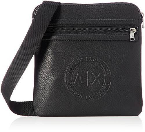 Armani Exchange - Messenger Bags, Bolso Hombre, Negro (Nero), 22.5x1.5x22.0 cm (B...