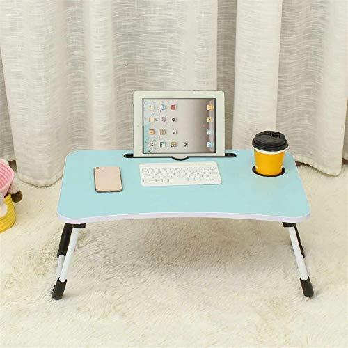 Escritorio para laptop 60 X40 X28cm Cama Pequeña Tabla Del Ordenador Tabla Ordenador Dormitorio Con Escritorio Plegable Del Estudiante Universitario Célula Compartida Cama Bandeja De Escritorio Del Or