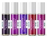 Women's Top 5 Perfume Oil Impressions 2021 (Generic Versions of Designer Fragrance) Sampler Gift Set of 5 10.35ml Roll-ons