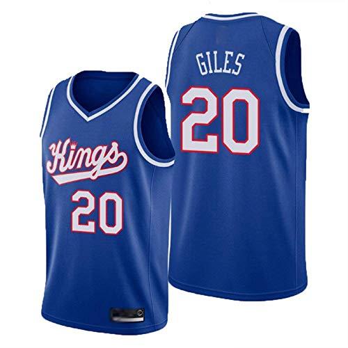 Reyes 20# Giles Tela Respiradora Fresca Clásico Retro Moda Basketball Jersey Sin Mangas Chaleco Camiseta Unisex,Azul,XXL185~190cm