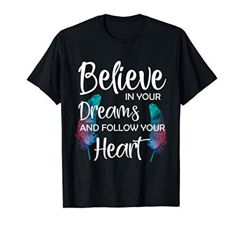Federn Vogelfeder Wasserfarbe Feder Motiv T-Shirt