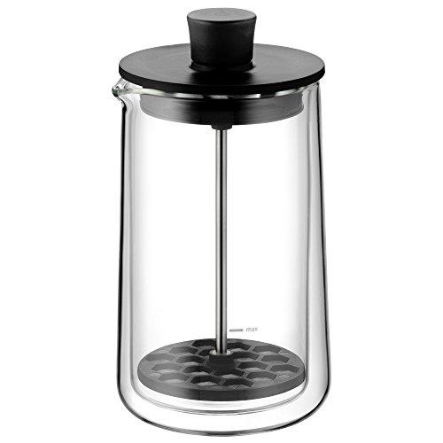 WMF CoffeeTime melkopschuimer 17 cm, voor 200 ml melk, hittebestendig glas, vaatwasserbestendig, magnetronbestendig