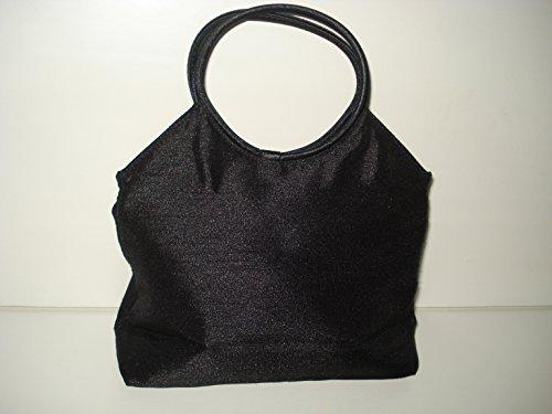 Sac à cosmétiques en soie noire - Magnifique sac à main avec doublure en soie synthétique et bouton-pression - Idéal pour ranger vos articles cosmétiques préférés.