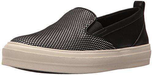 NINE WEST Olsen Damen Sneaker aus Stoff, Schwarz (Schwarz/Mehrfarbig), 37 EU