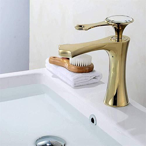 Grifo lavabo del baño lavabo del baño lavabo de latón dorado lavabo de agua fría y caliente tapa del lavabo de vidrio