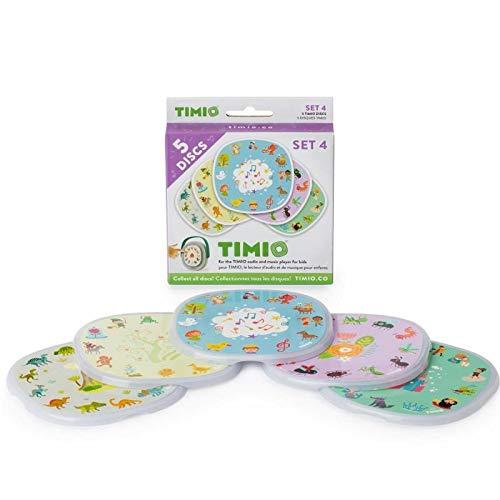 TIMIO TIMIO-TMD-04 Juego de 5 Discos, Reproductor de música Interactivo para niños (TMD-04)
