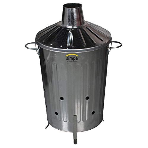 CrazyGadget® Small Medium Large Extra Large Galvanised Metal Incinerator...
