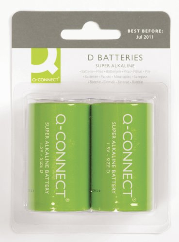 Q-Connect KF00491 Super alkaline batterijen - mono/LR20/D, 1, 5V
