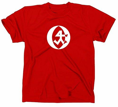 Steinmetz Handwerk Zunft Logo T-Shirt, L, red