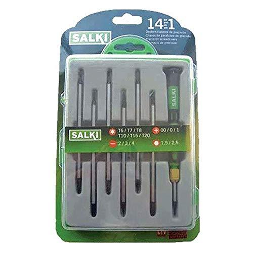 salki 8615010.0 8615010-Juego Destornilladores precisión 8 pcs, metal, l