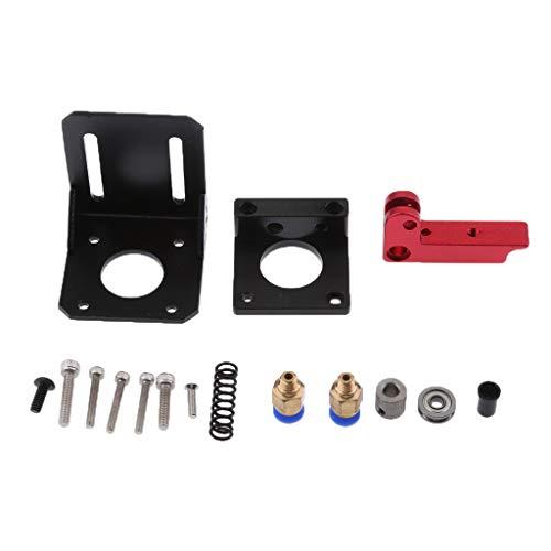 D DOLITY MK8 Extruder Left Hand Aluminum Frame Block DIY Kit Upgraded Replacement Remote Extruder for RepRap Prusa i3 3D Printer