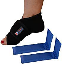 Reusable Hot Foot & Cold Ice Pack Wrap for Plantar Fasciitis, Heel Spurs, Arch Pain, Sore Feet, Swelling - Extra Gel Pack Included (Large) HSA or FSA Eligible